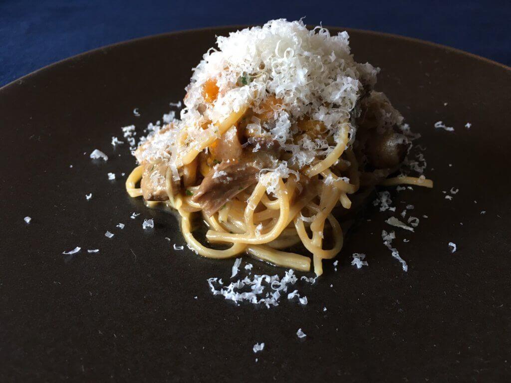 ポルチーニ茸と椎茸のオイルソース